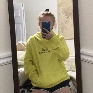 Yellow disruption hoodie!